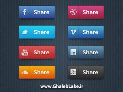 دانلود 8 آیکون شبکه های اجتماعی با استایل گرادیانت