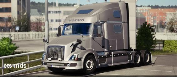 دانلود کامیون فوق العاده volvo vnl 780 + داخلی برای یورو تراک