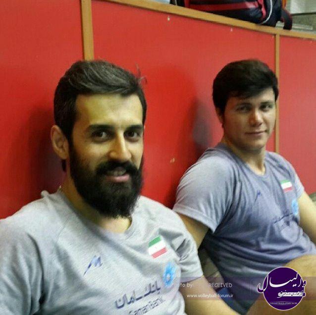 سعید معروف در تمرین تیم ملی