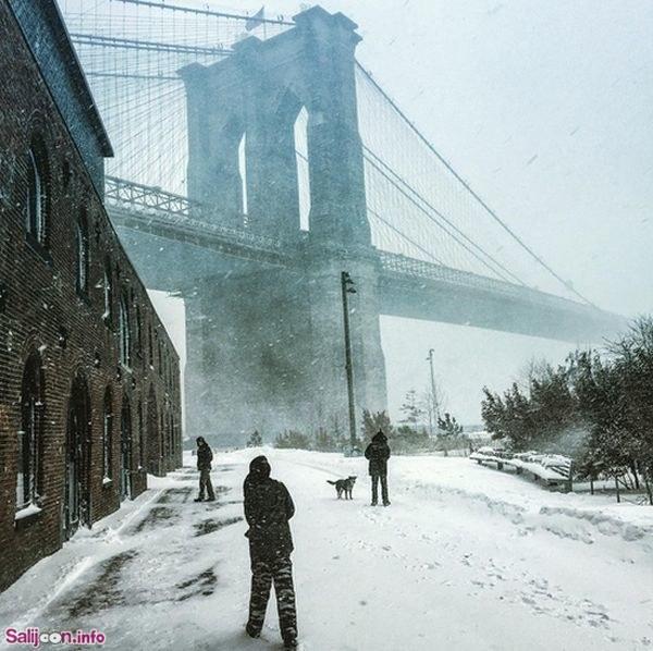 تصاویر زمستانی متفاوت تر از برف و کولاک امریکا