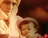 کودکی کیمیا در آغوش مادر/دختر هفت ساله قالیباف/استاد حسین بهزاد در جوانی