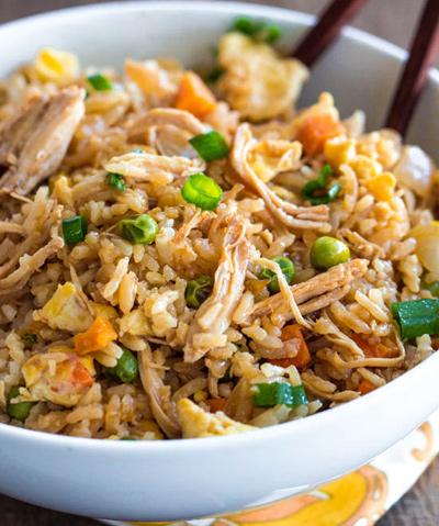طرز تهیه مرغ سرخ شده با برنج