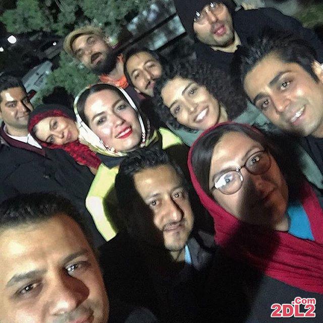 عکس عاشقانه و زیبای آزاده نامداری در کنار همسرش در جشنواره فیلم فجر