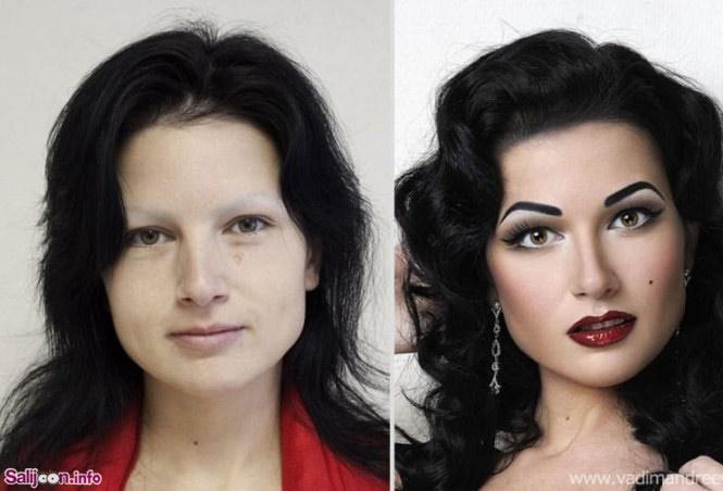 خانم ها قبل و بعد از آرایش