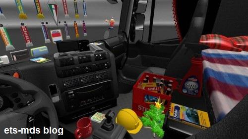 دانلود مد افزونه برای dlc تیونینگ داخل کابین بازی euro truck 2
