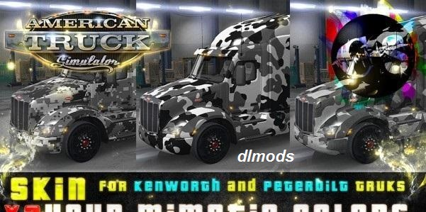 دانلود مد YOUR MIMETIC COLORS SKIN FOR KENWORTH AND PETERBILT V1