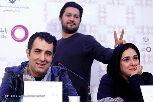 شوخی عجیب حامد بهداد با باران کوثری در جشنواره فیلم فجر ۳۴ + تصاویر