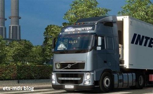 کامیون بسیار زیبای volvo fh13 ورژن دوم برای یورو تراک