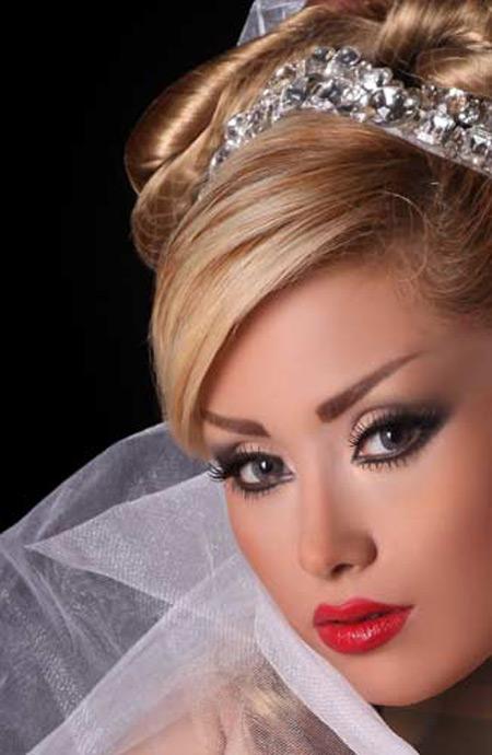 مدل آرایش چهره و موی عروس