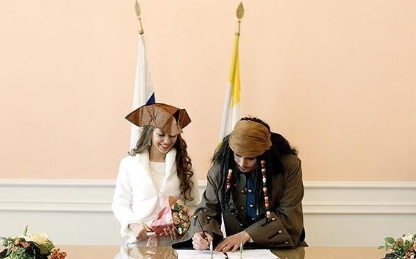 ازدواج دزدان دریایی در روسیه! /عکس