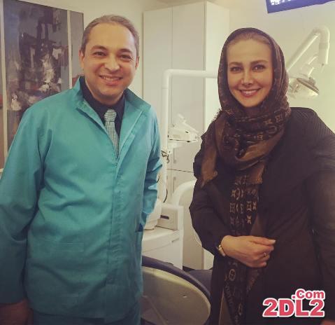 عکس تازه منتشر شده از آنا نعمتی در کنار دنداپزشک خصوصی اش