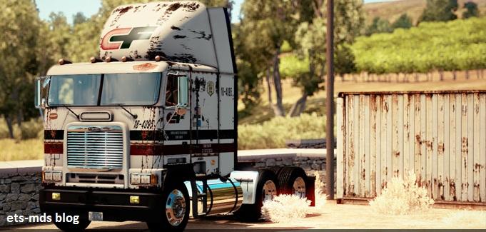 دانلود کامیون Freightliner FLB + داخلی و صدا برای ats