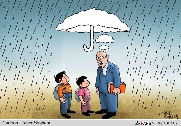 کاریکاتور/ فواید حرف های معلم
