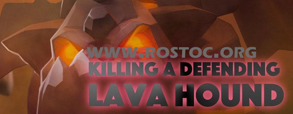 نابود کردن لاوا هوند در حمله