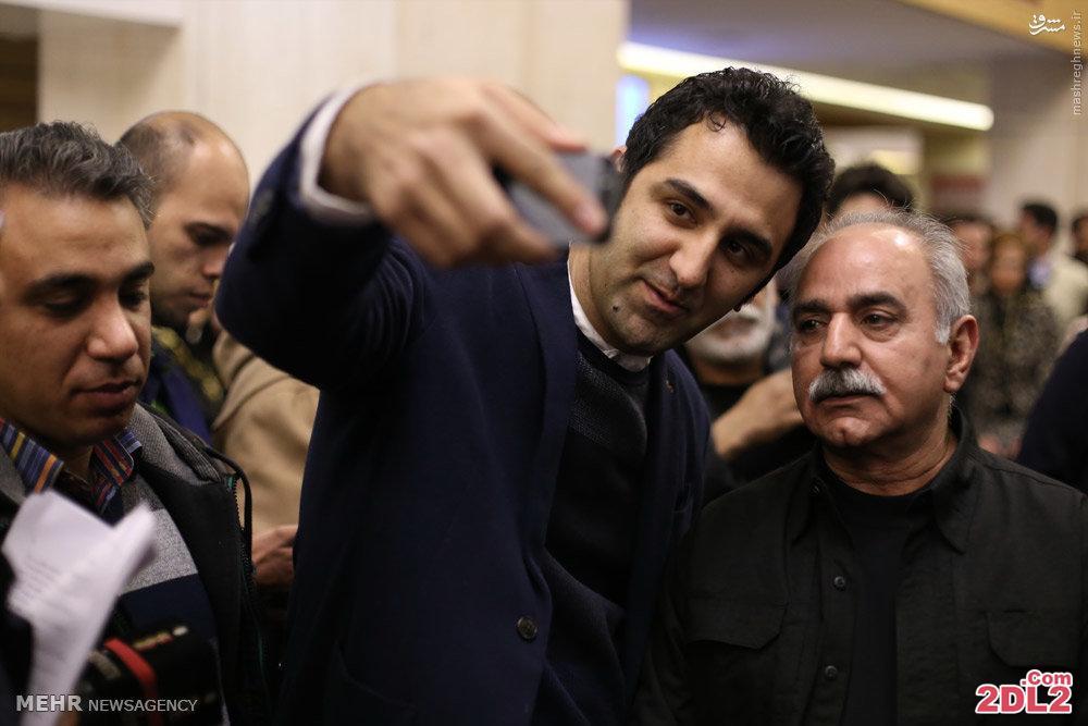 سلفی با بهترین بازیگر سینمای سال 94 در اختتامیه جشنواره فیلم فجر