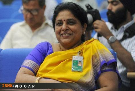 تجلیل از زن موشكی در هند ! (+عکس)