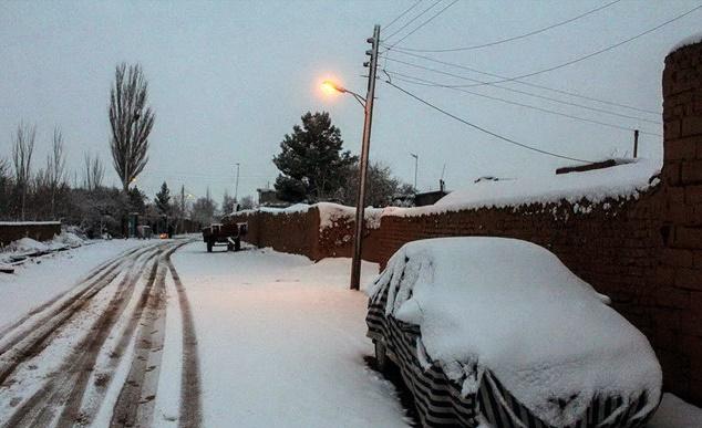 تصاویر زیبا از بارش برف و سرما در کشور