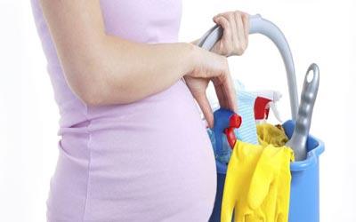 توصیه هایی در رابطه با خانه تکانی در دوران بارداری