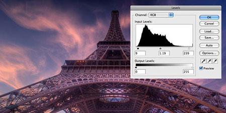 آموزش استفاده از ابزار LEVELS در فتوشاپ برای بهبود رنگ تصویر