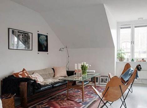 دکوراسیون بسیار جالب خانه ی دوبلکس که 62 متر است!!!