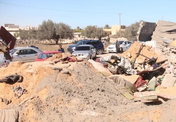 (تصاویر) حمله هوایی آمریکا به داعشِ لیبی