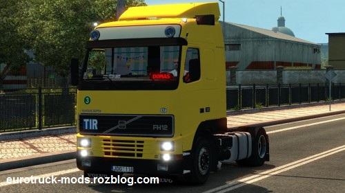 دانلود کامیون فوق العاده volvo fh12 380 برای یورو تراک