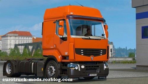 دانلود کامیون زیبای رنو premium ورژن اول برای بازی یورو تراک