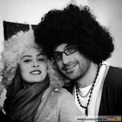 خانم بازیگر ایرانی برای اولین بار از همسرش رونمایی کرد!