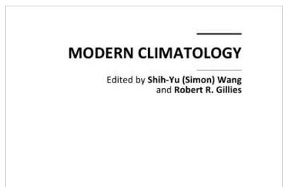 کتاب اقلیم شناسی مدرن (Modern Climatology (Shih-Yu (Simon) Wang