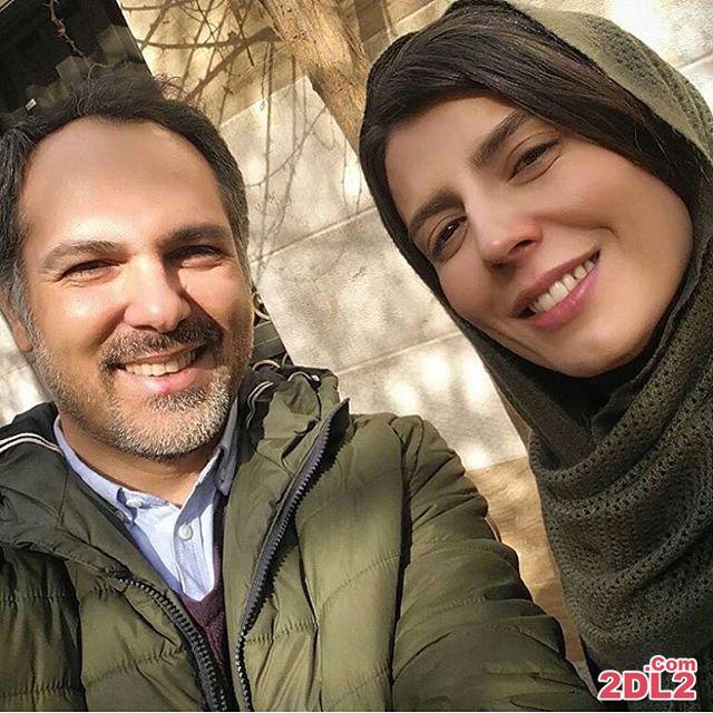 سلفی لیلا حاتمی در کنار بازیگر مرد در فیلم جدیدش
