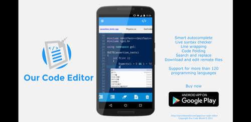 برنامه نویسی با Our Code Editor Premium v1.1.2