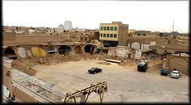 تخریب شبانه یک گاراژ تاریخی در یزد