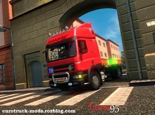 دانلود کامیون بی نظیر daf cf 85 ورژن اول برای یورو تراک