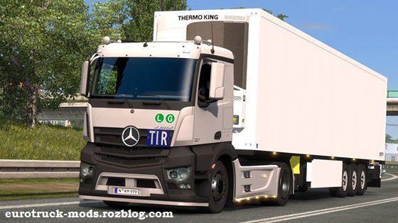 دانلود کامیون مرسدس بنز انتوس + داخلی برای یورو تراک