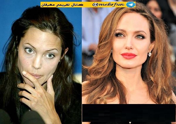 عکس بازیگران معروف قبل و بعد از آرایش