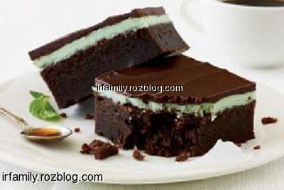 طرز تهیه کیک شکلاتی با رویه نعنا