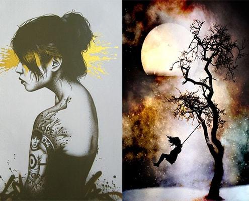مجموعه عکس عاشقانه طراحی شده نقاشی