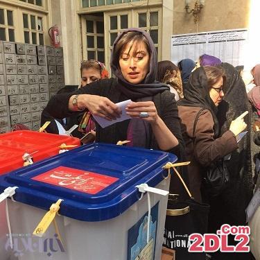 مهتاب کرامتی در انتخابات شرکت کرد + عکس