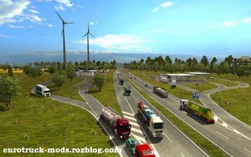دانلود مد افزایش ترافیک و سرعت ماشین ها برای یورو تراک