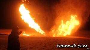 انفجار در خط لوله گاز سردشت در اثر رانش زمین