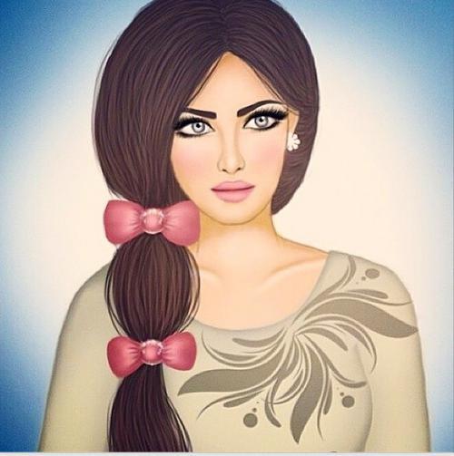 نقاشی دخترونه در سایت ویسگون برای پروفایل