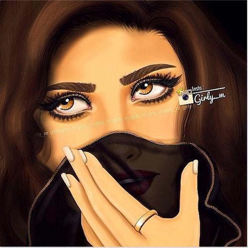 ویسگون عکس نقاشی دخترونه زیبا و جدید