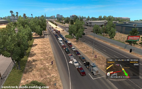 دانلود مد افزایش ترافیک برای american truck simulator