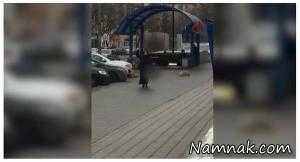 بازداشت زنی با سر بریده یک کودک در دستش + عکس