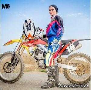 بهناز شفیعی بهترین موتور سوار زن ایرانی در جهان + تصاویر