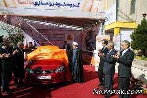 روحانی پشت فرمان خودرو ساینا + تصاویر