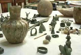 کشف اشیاء تاریخی مربوط به هزاره اول پیش از میلاد