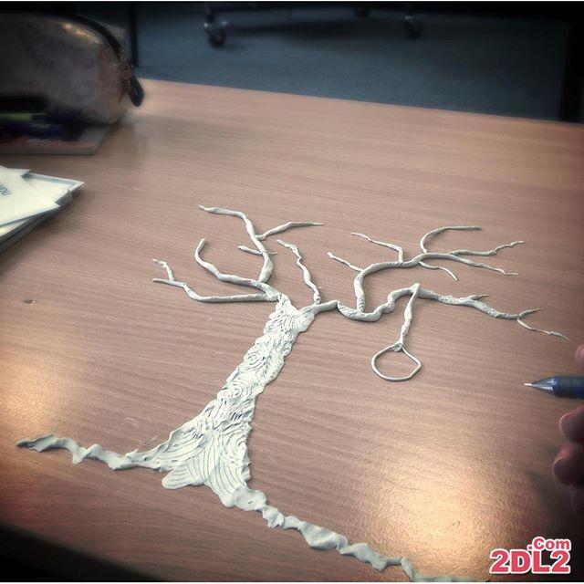 ساخت کاردستی با خمیر توسط الناز شاکردوست سر کلاس دانشگاه + عکس