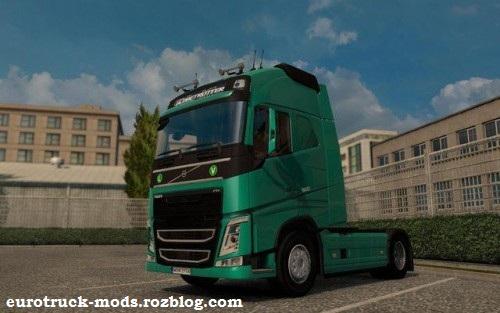 دانلود کامیون فوق العاده ولوو fh16 ادیت شده برای یورو تراک
