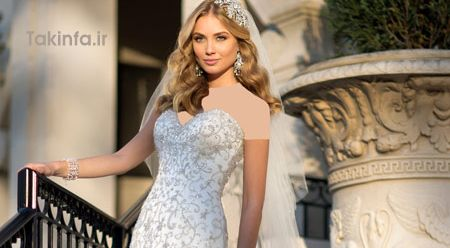 لباس عروس شیک , مدل لباس عروس سال , ست کامل لباس عروس